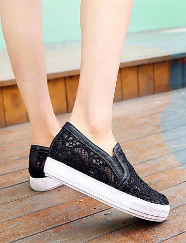 ZQ gyht Zapatos de mujer-Plataforma-Plataforma / Creepers-Mocasines-Exterior / Casual / Laboral-Semicuero-Negro / Rosa / Blanco , pink-us8 / eu39 / uk6 / cn39 , pink-us8 / eu39 / uk6 / cn39 black-us6 / eu36 / uk4 / cn36