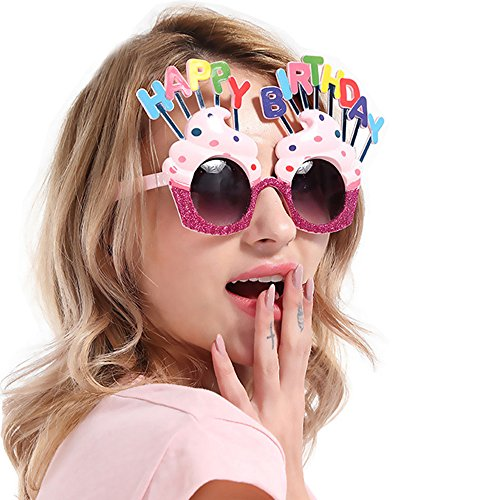D.O.T Novelty Sunglasses,Ice Cream Shaped Happy Birthday Glasses For Birthday Gift Party Supplies - Birthday Sunglasses Happy