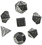 Q WORKSHOP Metal Dwarven 7 Polyhedral RPG Ornamented Dice Set