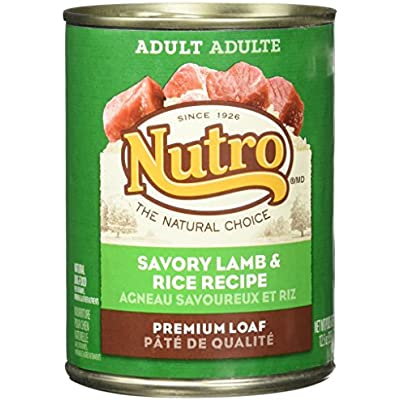 Nutro 50411571 Savory Lamb & Rice Recipe Can Dog Food, 12 Ea/12.5Oz