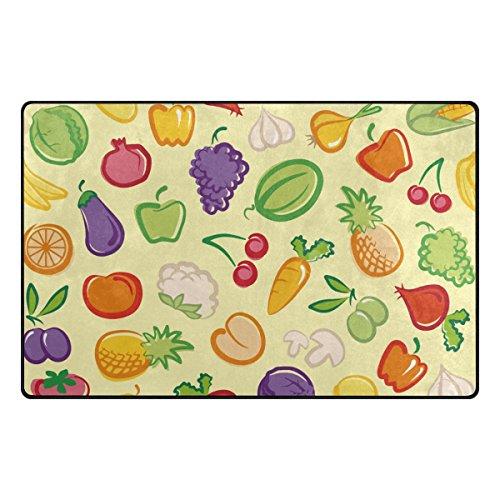 Florence Bedroom (Florence Vegetables Fruit Salad Bowl Area Rug Non-Slip Doormats Carpet Floor Mat for Living Room Bedroom 31 x 20 inches)