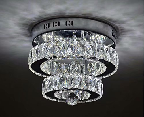 Plafoniere Acciaio E Cristallo : Loco crystal flush mount lusso moderno led plafoniera k9