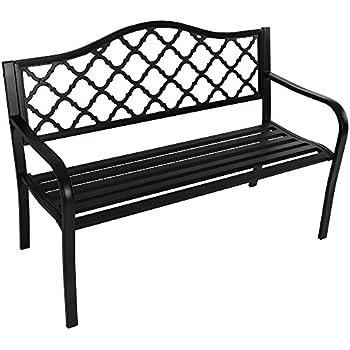 Amazon Com Sunnydaze Decor Outdoor Bench Garden Or