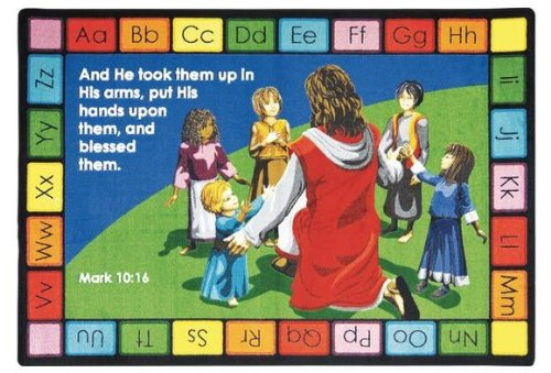 Faith Based Into His Arms Kids Rug Rug Size: 7'8'' x 10'9'' by Joy Carpets