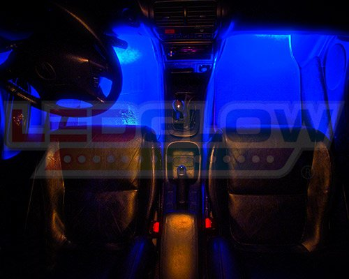 Amazoncom LEDGlow 4Piece Single Color LED Interior Underdash