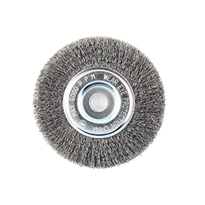 """Lincoln Electric KH320 Crimped Wire Wheel Brush, 6000 rpm, 6"""" Diameter x 1/2"""" Face Width, 5/8"""" x 1/2"""" Arbor (Pack of 1)"""