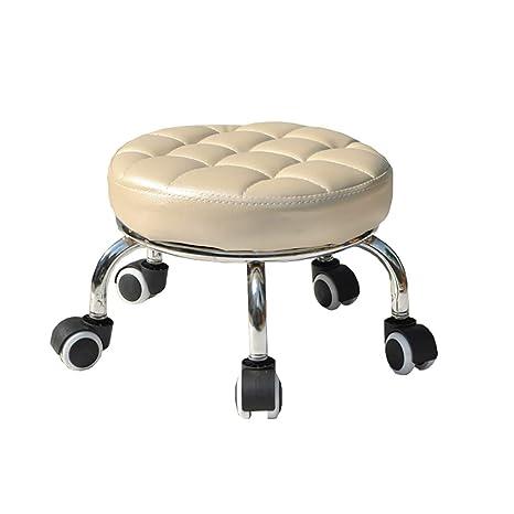 Amazon.com: Lwjjby - Taburete pequeño con ruedas, taburete ...
