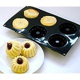 Silicone Cuisine - Stampi a 6 buchi per mini Savarin 1 + 1 gratuito