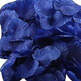 LEFV™ 1000pcs Silk Rose Petals Artificial Flower Wedding Party Vase Decor Bridal Shower Favor Centerpieces Confetti Decorations (40 Colors for Choice)- Dark Blue