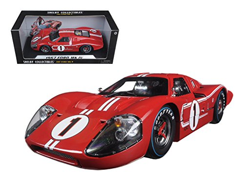 Shelby Collectibles SC423 1967 Ford GT MK IV #1 Red LeMans Winner 24 Hours 1/18 Diecast Model Car