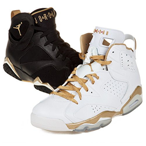 NIKE Air Jordan 6/7 Retro Olympic - Golden Moment Pack (535357-935) (10 D(M) US) (Air Slider Nike)