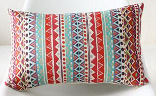 Bohemian Style Stripes Exotic Ethnic Red And Blue Triangle C