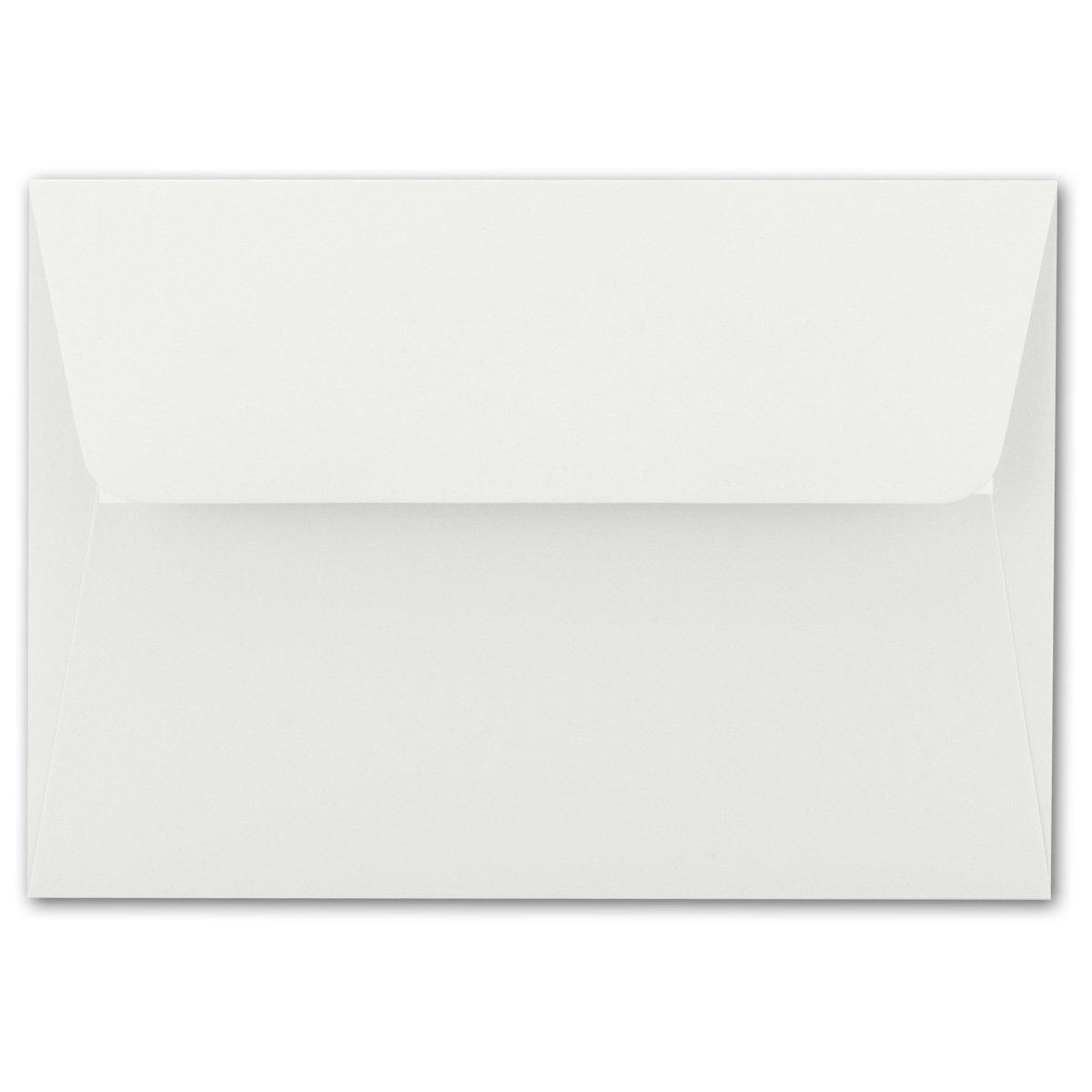200x Brief-Umschläge B6 - Naturweiss - 12,5 x 17,5 17,5 17,5 cm - Haftklebung 120 g m² - breite edle Verschluss-Lasche - hochwertige Einladungs-Umschläge B078HC34MR | Hat einen langen Ruf  487a18