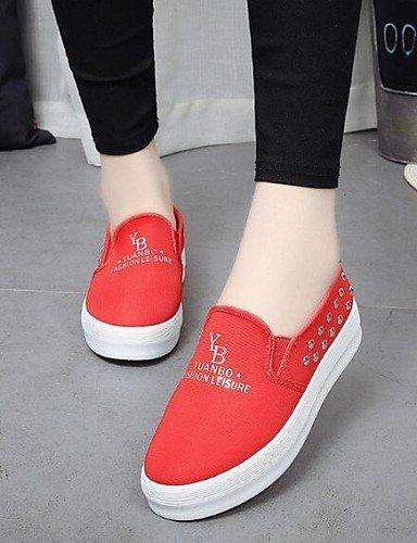 Red Redonda comfort Mujer Casual us8 Cn40 negro Punta Eu39 5 5 tela us8 Gyht plataforma 5 De Zapatos Black Rojo Azul Uk6 mocasines Zq exterior nqwat0ZXxv