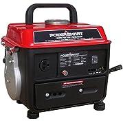 PowerSmart PS50 1000W 2 Stroke Manual Start Portable Generator, Red/Black