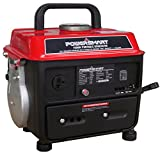PowerSmart PS50 1000W 2 Stroke Manual Start Portable Generator,...