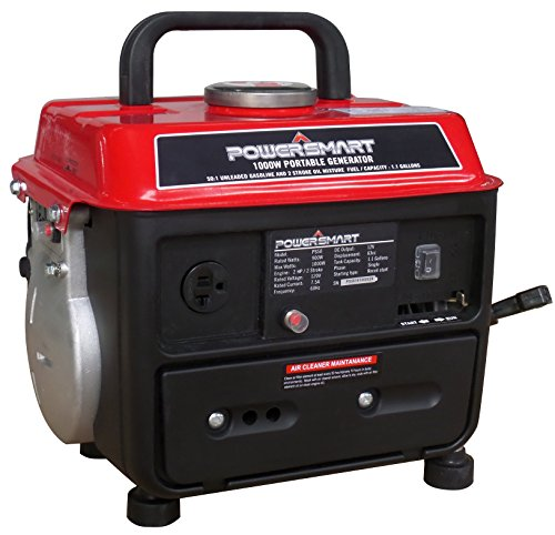 - PowerSmart PS50 Portable Generator, Red/Black