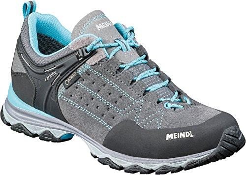 Meindl Ontario Lady GTX Freizeitschuh Schnürschuh - grau/azurblau