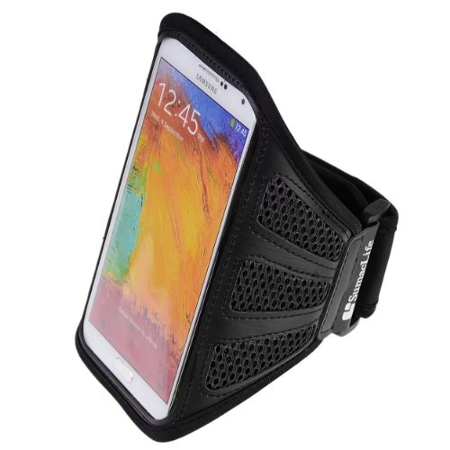 Sumaclife Mesh Workout Armband For Blu Studio Series Smartphones  Black