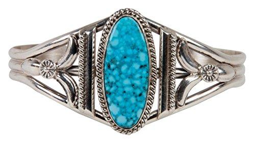 Kingman Turquoise Bracelet (Navajo Native American Kingman Turquoise Bracelet by Mary Ann)