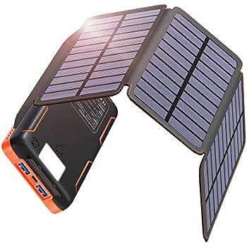 Amazon.com: Solar Power Bank Charger 20000mAh Portable ...