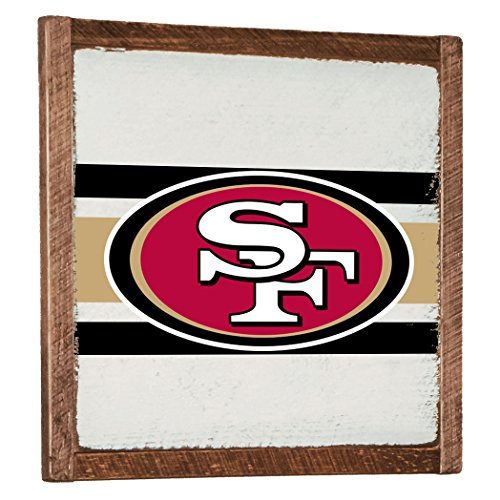 Rustic Marlin Designs NFL San Francisco 49ers White Vintage Wall Art, Red, 27