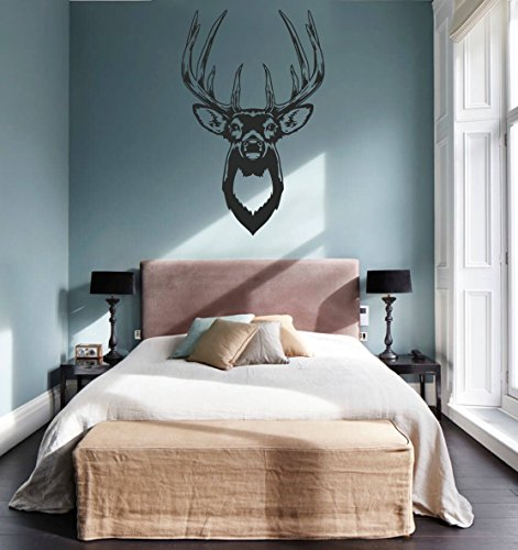 ik760 Wall Decal Sticker Deer elk Buck Head Forest Animal Hunting Living Room