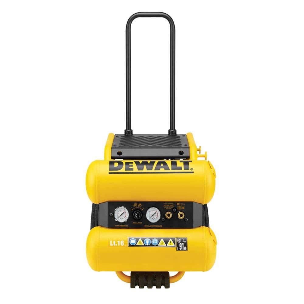 DeWalt DPC16PS-QS - Compresor 2.5 Hp, 16 Litros, Amarillo/Negro: Amazon.es: Bricolaje y herramientas