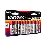 RAYOVAC AA 16-Pack FUSION Preumium Alkaline Batteries, 815-16LTFUSK