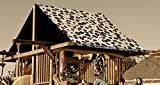 Custom Sized Brown/Tan Cheetah Replacement Tarp  Canopy for Playset: Up to 60 Sq Ft Tarp Size