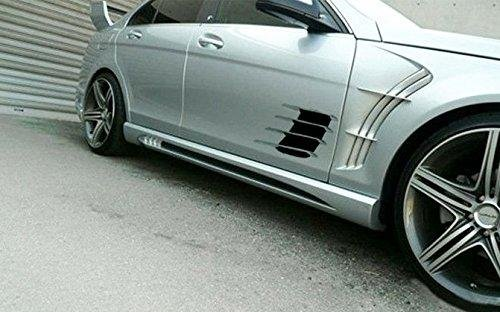 1Set Air Net Decal Sticker For Car Door Hood Side Flow Vent Fender Intake Grille