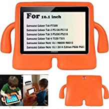 Y&M(TM)Samsung Galaxy a Tab Kids Case ,Childproof Shockproof Drop Resistance Portable Handle Lifeproof Protective Case Tablets Cover for Samsung Galaxy Tab 2 P5110 P5100 10.1 inch/Tab 3 P5200 P5210 10.1 inch - Orange