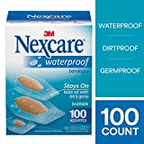 Nexcare Waterproof Clear Bandages, Made by 3M, Assorted Sizes, 100 Count