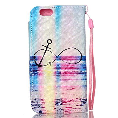 "MOONCASE iPhone 6 Case PU Leder Wallet Tasche Flip Etui Case Cover 2 in 1 abnehmbarer weicher TPU Innen Schale für iPhone 6 (4.7"") -FT04"