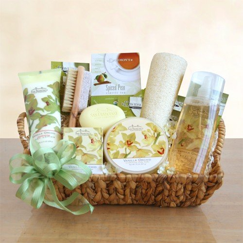 Elegant Orchid Spa Sensation Gift Basket