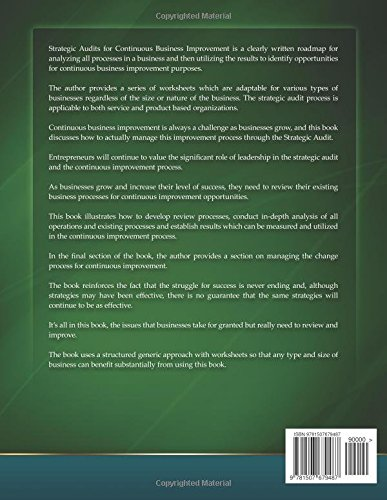 Strategic Audits for Continuous Business Improvement: Parbatee ...