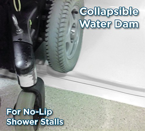 (StayDry Systems Collapsible Water Dam (5) (Water Stopper, ADA Wheelchair Accessible Shower Threshold) )