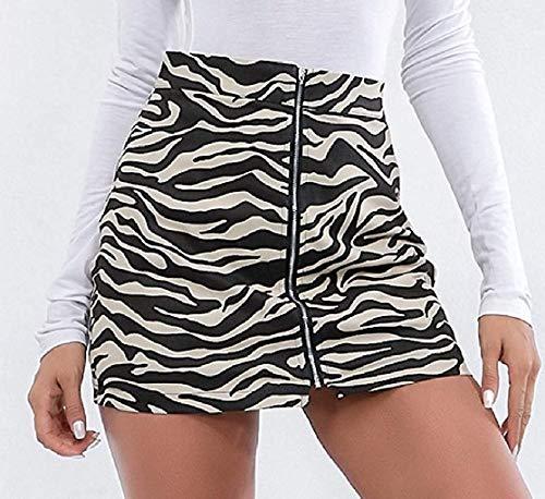 Gonne Aderenti Black Brown color Size Alta Vita Con Home Mini Stampate A Dress M Zip Girls ZwxqIf7tC