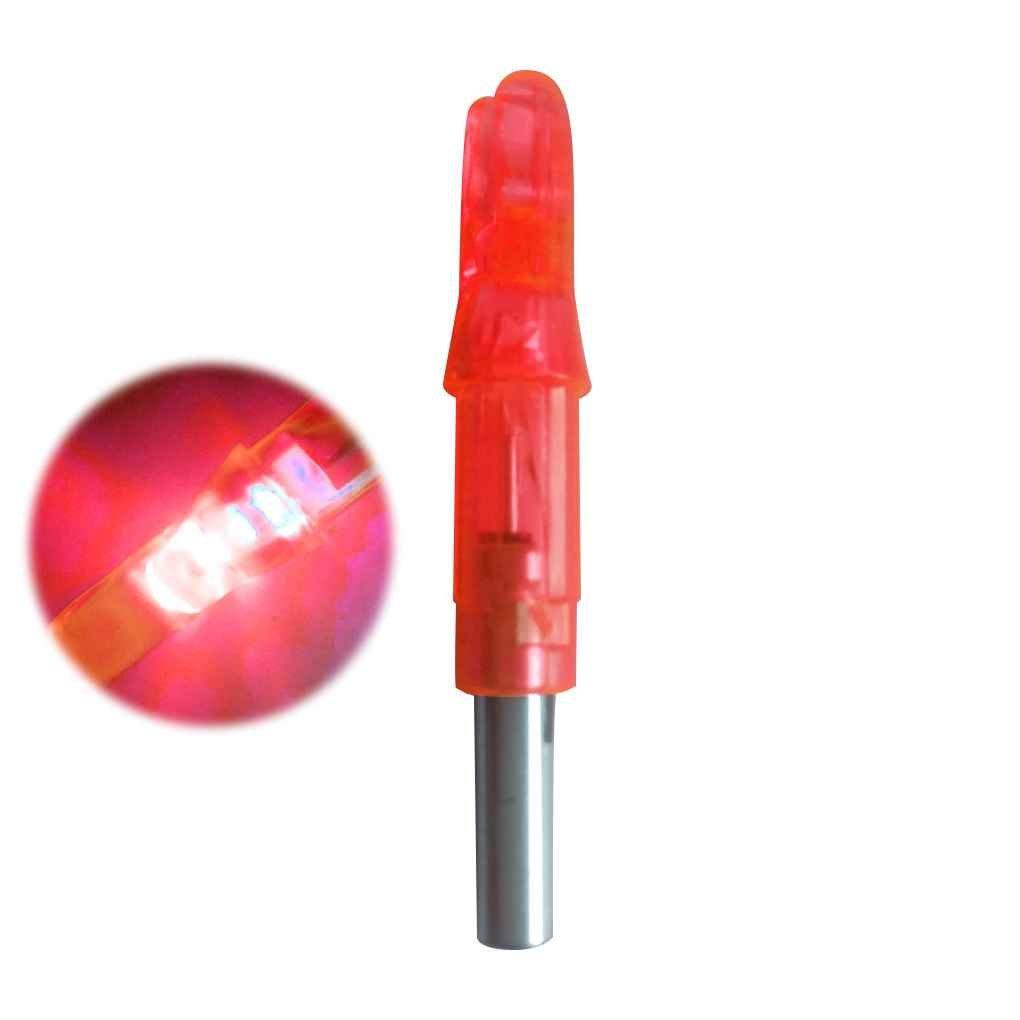 Busirde 3pcs al Aire Libre de Tiro con Arco Flecha Nock Arco Compuesto Encendido LED Flecha Nock 6.2mm