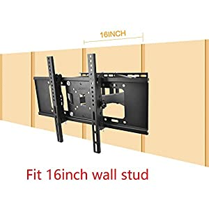 Sunydeal Full Motion Tilt Swivel TV Wall Mount Bracket for Vizio Samsung Sharp Sony LG Panasonic 30 32 39 40 42 43 46 47 48 49 50 55 60 inch Plasma LCD LED Smart TV, VESA up to 600 x 400 mm, Max 99lbs by Sunydeal
