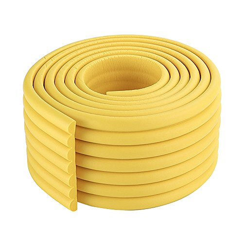 2x2m/13ft Childproof Table Edge Protector NBR Counter Edge Protector Home Door Edge Guards in Yellow