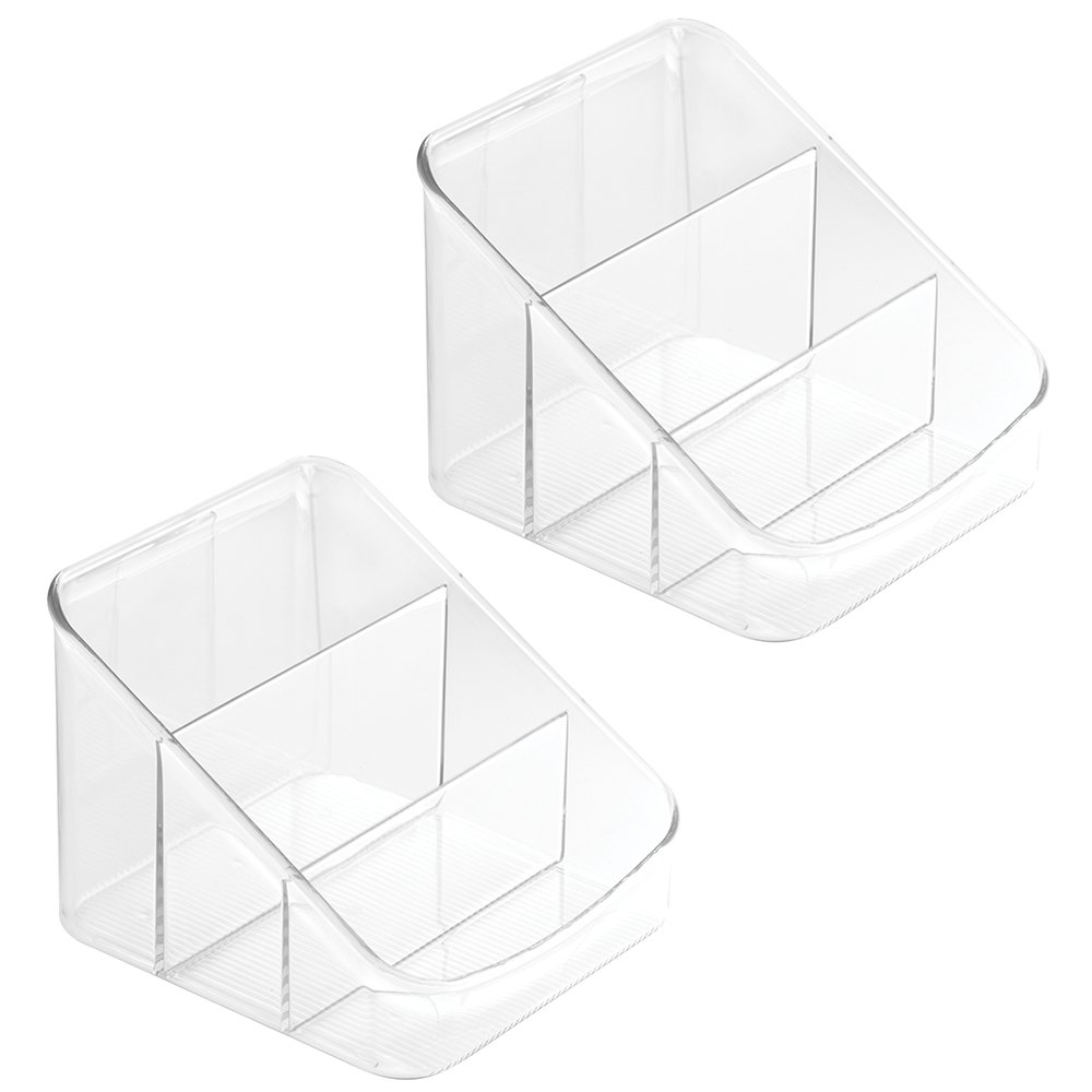 InterDesign Linus Kitchen Cabinet Spice Soup Chili Packet Organizer, Set of 2, Clear