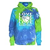 JANT girl Basketball Tie Dye Sweatshirt - Love Basketball Logo