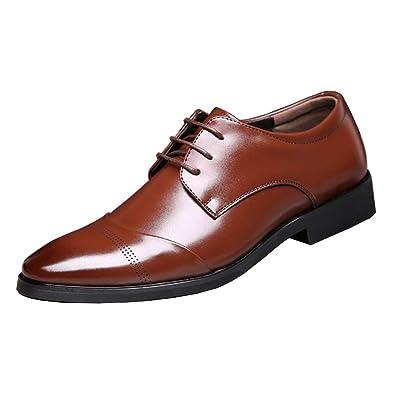 Herrenschuh Klassischer Business Stil Schuhe Halbschuh Aus Pu-Leder Mit  Gummisohle Braun 37 0fa0672b49
