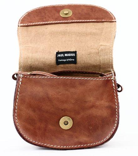 In Mon Colore Stile Piccola Borsa Paul Mignon Marius Vintage Marrone Marrone Pelle wfpa1ftng
