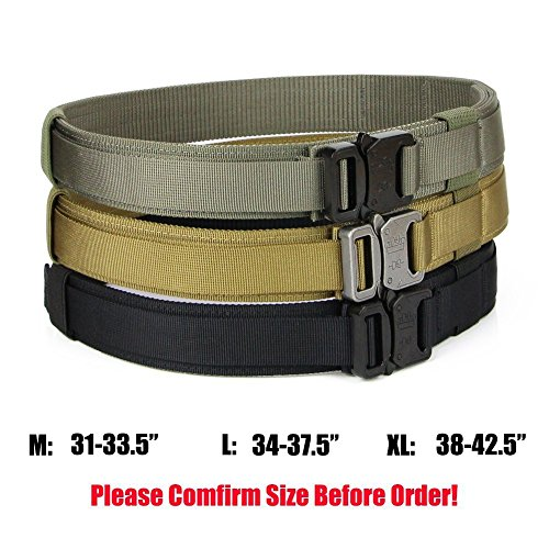 Aiduy Tactical Belt Heavy Duty Waist Belt Adjustable
