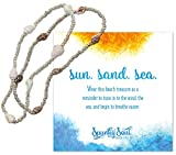 Tropical Nassa Sea Shells Stretch Anklet in Coastal Ivory and Sandcastle Brown - SPUNKYsoul Beach Collection