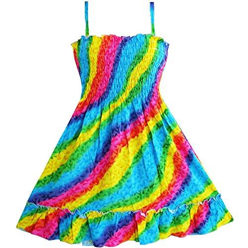 Sunny Fashion Rainbow Smocked Halter product image