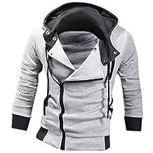 jeansian Men's Slim Fit Jacket Hoodie Shirts 8945 LightGray XS