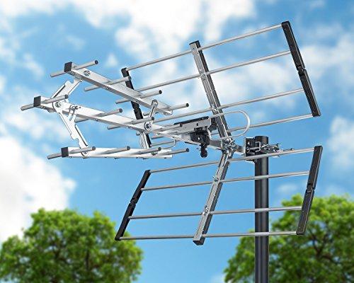 Long Range Outdoor Digital Tv Antenna Vhf Uhf Hd Amplified 180 Mile Hdtv 1080p Ebay